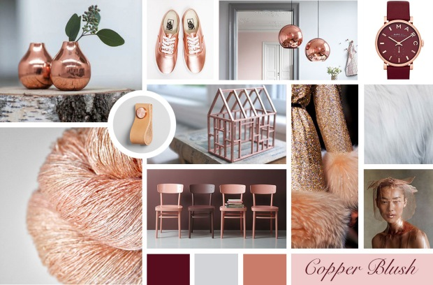 Images Credited: Copper Vases | Vans Shoes | Copper Lights | Marc Jacobs Watch | Fur | Model | Shimmer Coat | Copper House | Chairs | Door Pull | Copper Wire
